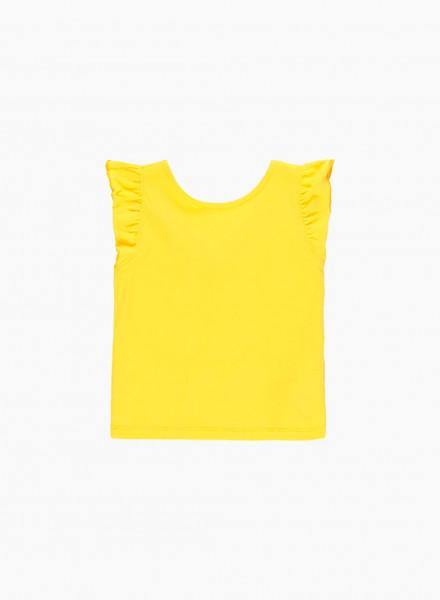 Ruffle cap sleeve blouse