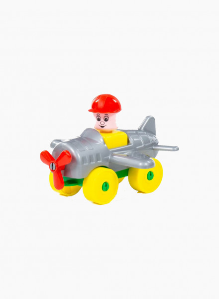 Construction Set Young Traveller - Airplane, 10 pieces