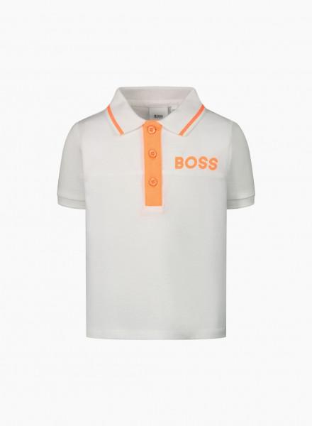 Polo with Orange Logo