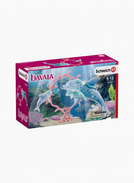 "Animal figurines set ""Dolphin mum with babies"""