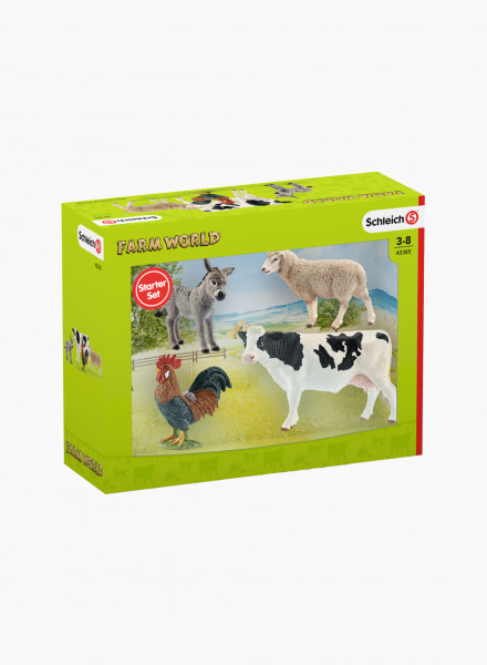 "Set of figurines ""Farm animals"""