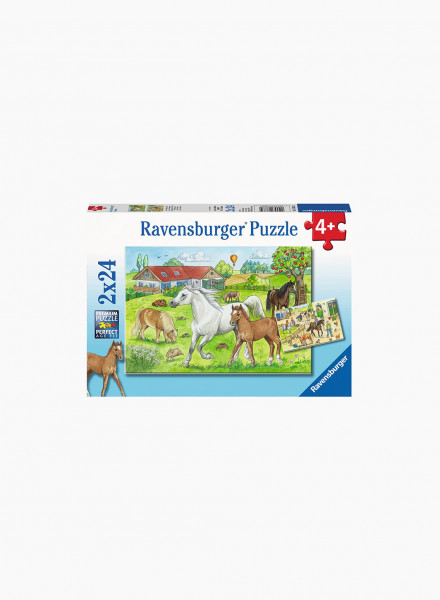 "Puzzle ""At the stables"" 2x24p"