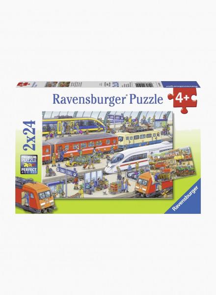 """Puzzle """"Train Station"""" 2x24p"""