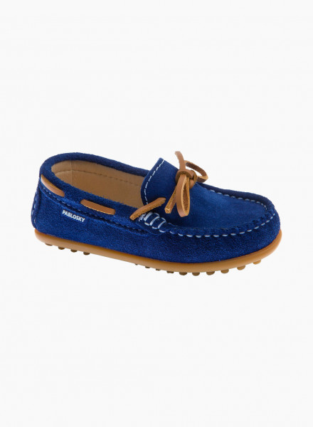 Lace up suede moccasins