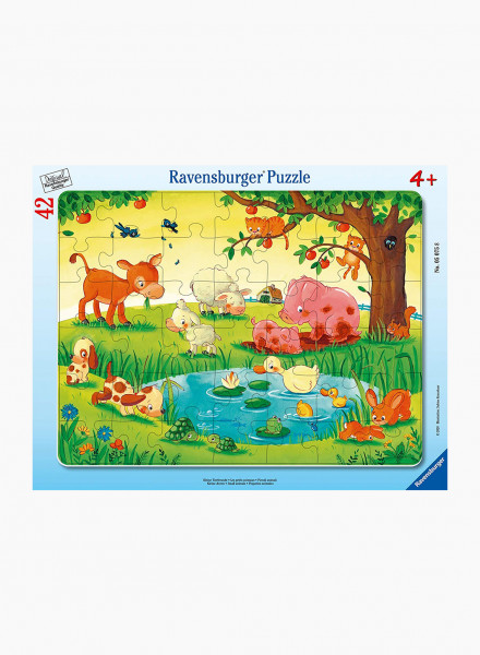 """Puzzle """"Little animal lovers"""" 42p"""