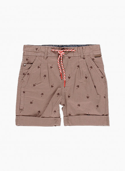 Shorts with palm print