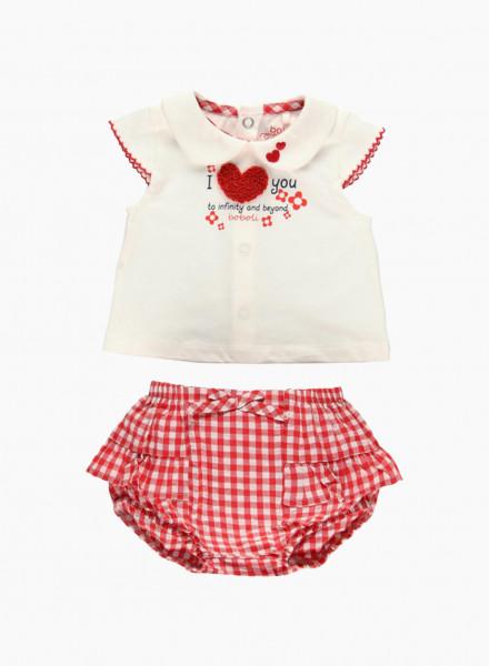 Մանկական հագուստի հավաքածու՝ շապիկ և շորտ