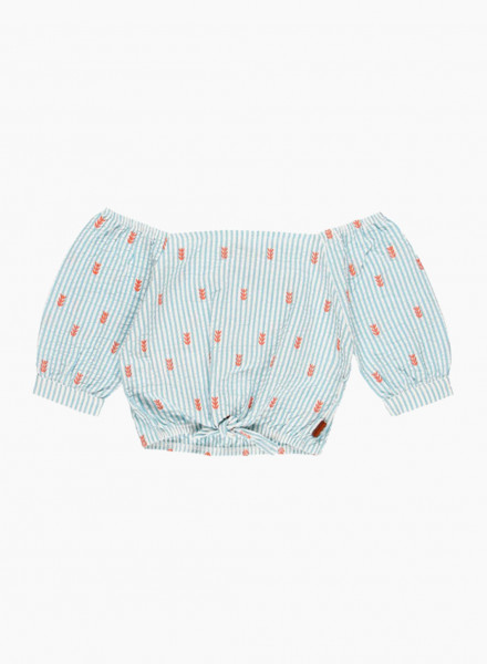 Короткая блуза с узлом