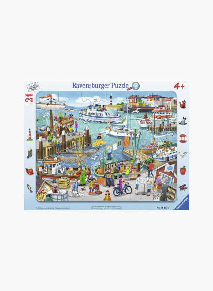 """Puzzle """"A day at the port"""" 24p"""