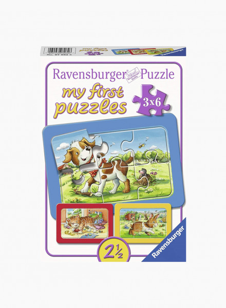 "Puzzle ""My animal friends"" 3x6p"