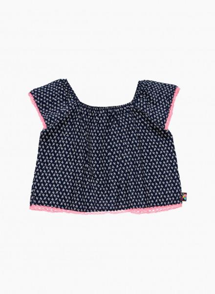 Lace fringe blouse