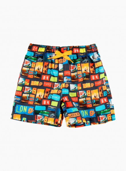 Пляжные шорты с красочным принтом