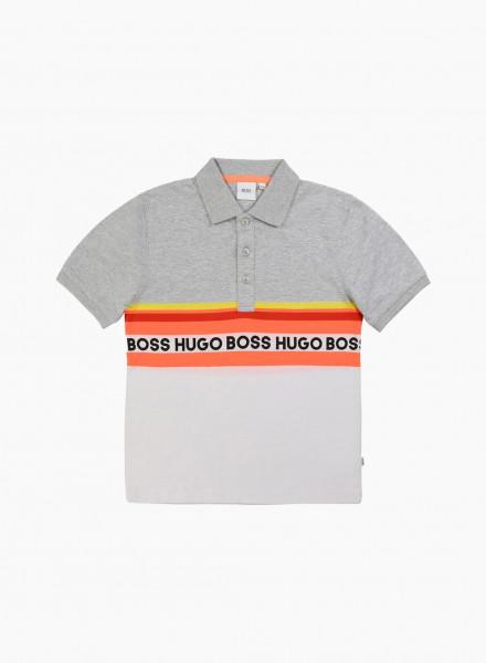 Polo with Logo Stripe