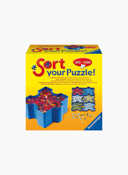 Puzzle sorting tray
