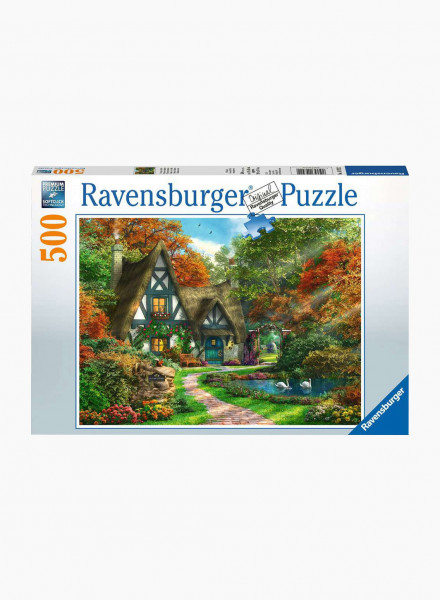 "Puzzle ""Cottage in the Fall"" 500p"