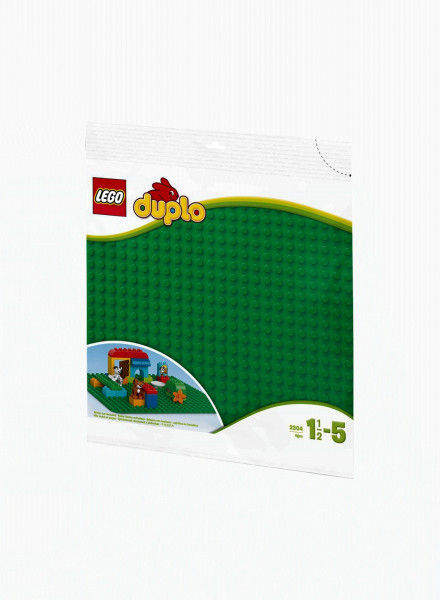 """Duplo Constructor """"Large Green Building Plate"""""""