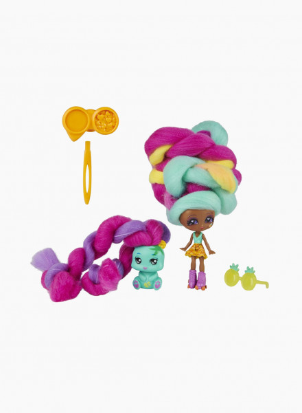 """Doll and Pet with Accessories Candylocks """"Mina Colada & Grizz"""""""