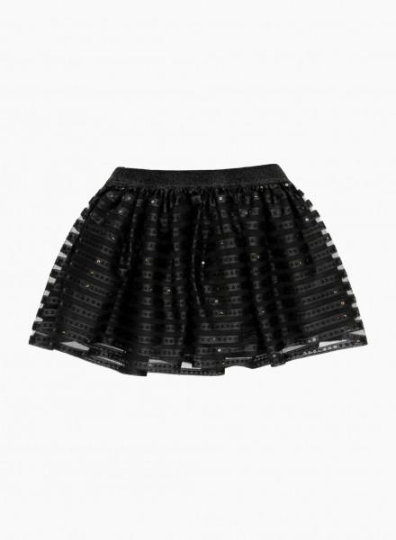 Тulle skirt with shiny elastic waist