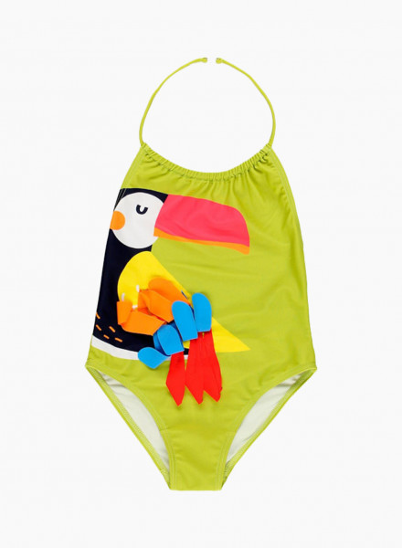 Swimsuit with colorful print