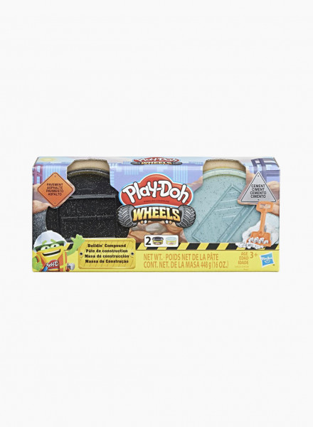 """Plasticine PLAY-DOH Wheels Set """"Pavement and Cement"""""""