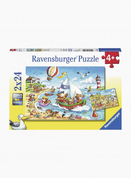 """Puzzle """"Holiday at the sea"""" 2x24p"""