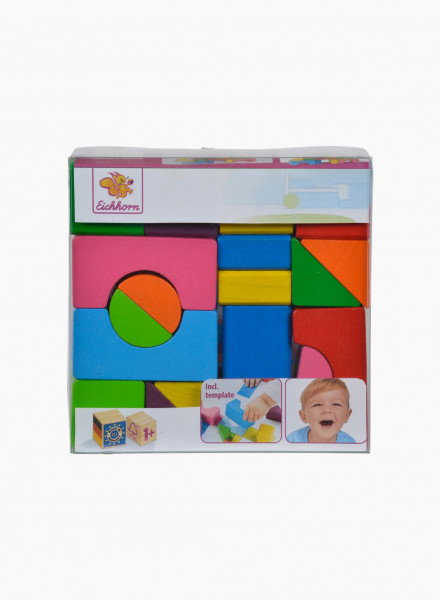"Eichhorn Wooden Building Blocks Set ""Mosaic"""