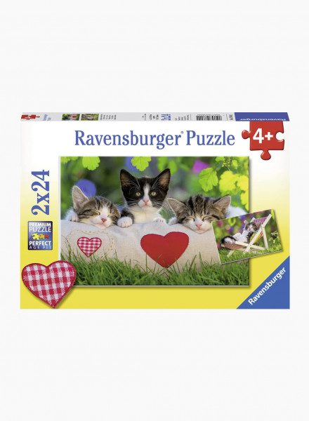 "Puzzle ""Sleepy Kittens"" 2x24p"