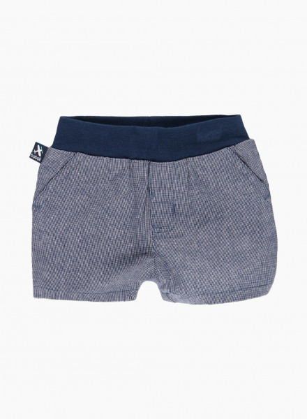 Plaid shorts with elastic waist