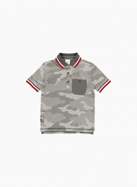Polo with military print
