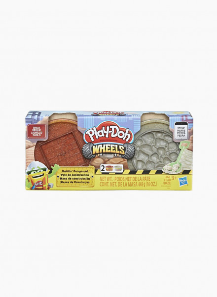 "Plasticine PLAY-DOH Wheels Set ""Brick and Stone"""