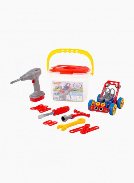 Construction Set Young Engineer - Car, 91 pieces