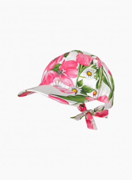 Cap with floral print