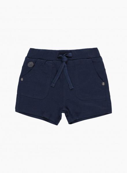 Elastic waist shorts with drawstring