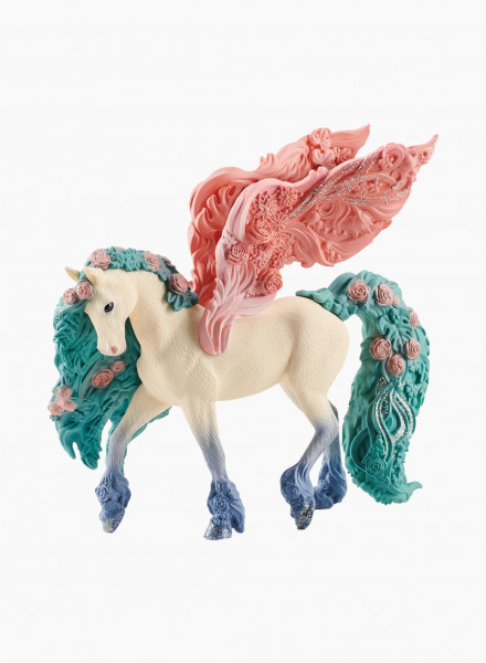 "Mythical animal figurine ""Flower pegasus"""