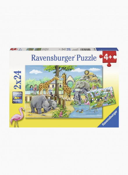 "Puzzle ""Welcome to the zoo puzzle"" 2x24p"