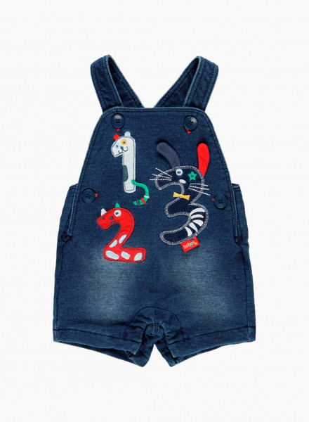 Baby dungarees with applique